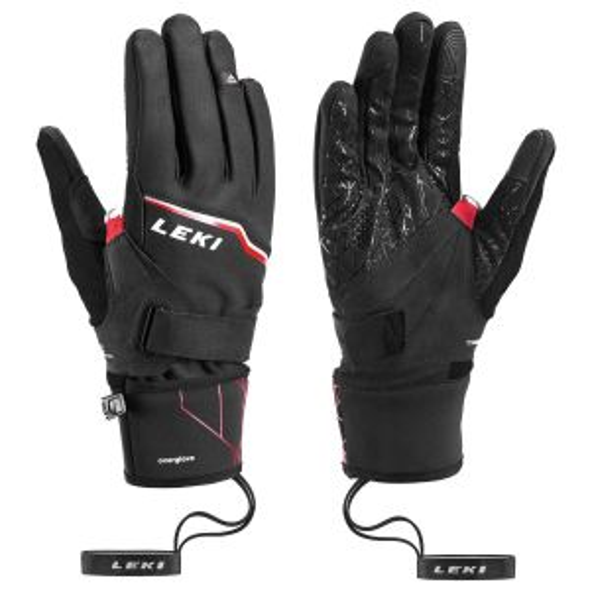 HS Tour Vision V Plus schwarz-rot-grau Unisex Handschuhe