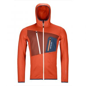 Fleece Grid Hoody Fleecejacke Herren Dessert Orange