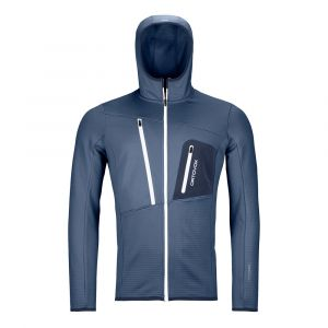 Fleece Grid Hoody Fleecejacke Herren Night Blue