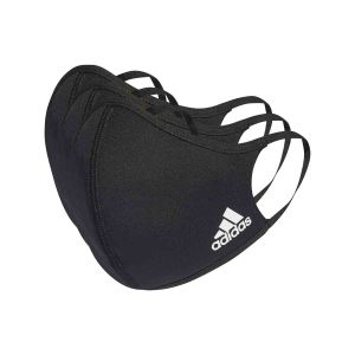 Face Cover XS/S Black Gesichtsmasken Mundschutzmasken 3er-Pack