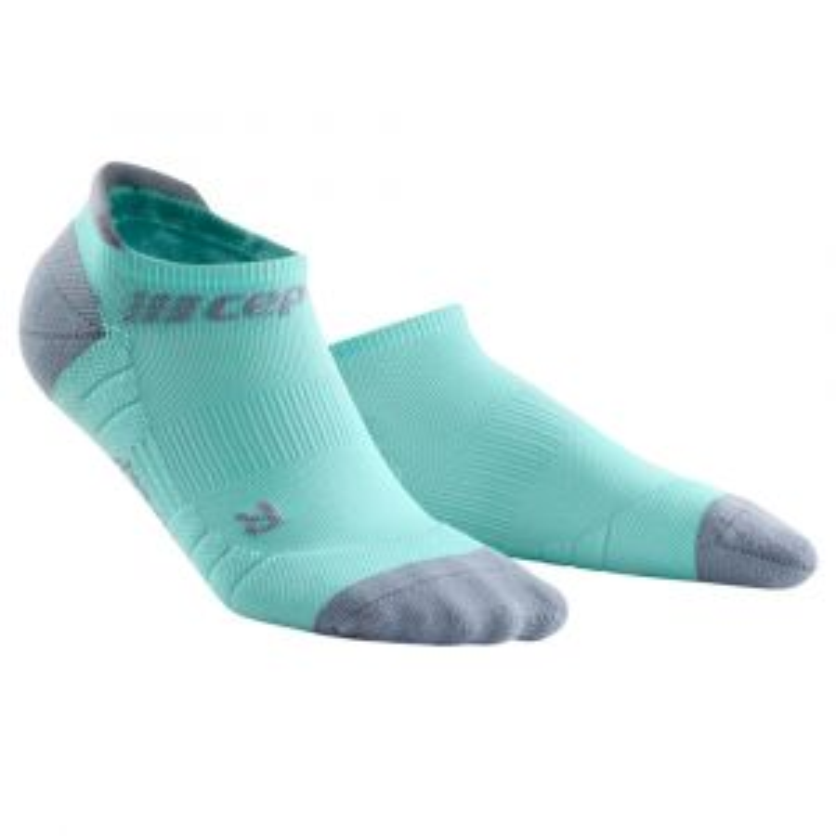 No Show Socks 3.0 Kompressionssocken Damen Türkis Grau