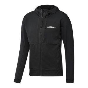 Terrex Tech Flooce Hooded Fleecejacke Herren Schwarz