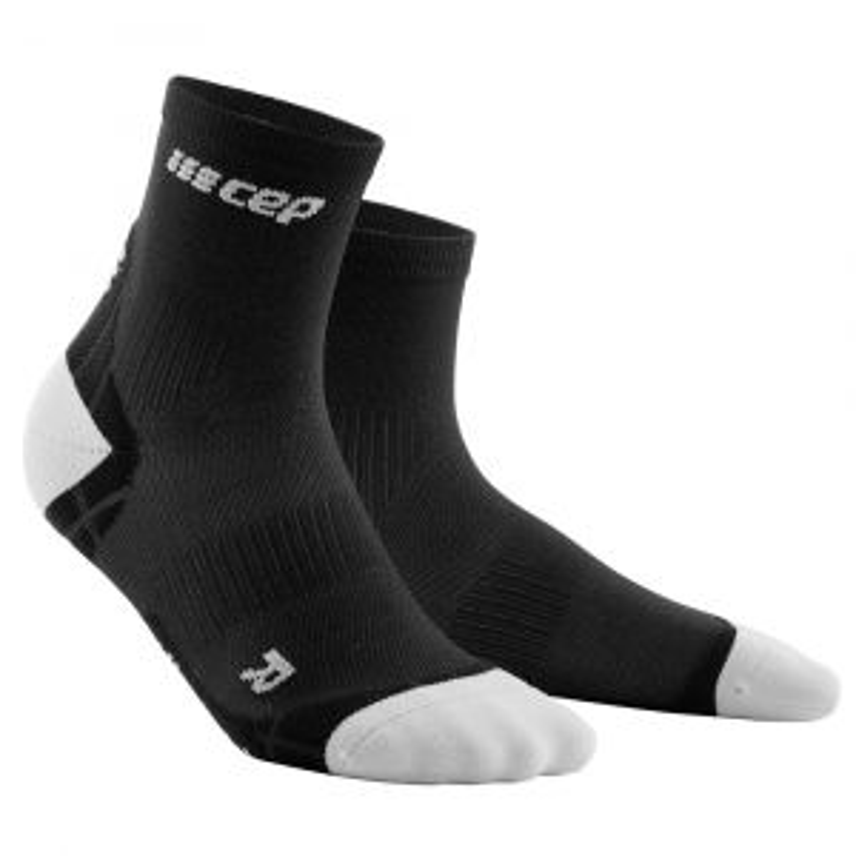 Ultralight Short Socks Kompressionssocken Damen Schwarz Grau