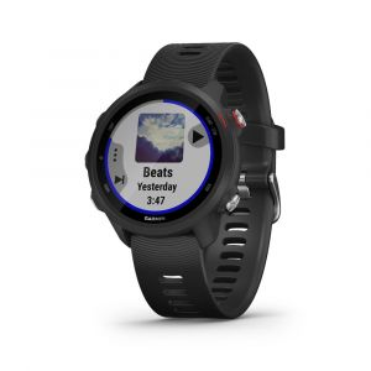 Forerunner 245 Music GPS-Smartwatch Laufuhr Schwarz mit Schnellwechsel-Silikon-Armband 20mm