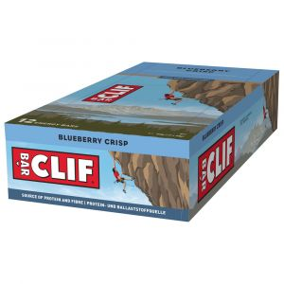 Clif Bar Energieriegel Powerriegel Blueberry Crisp 12 x 68g - Mindesthaltbarkeit 11/12/2021