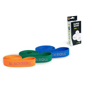 Blackroll Trainingsbänder Super Band Set Orange, Green, Blue