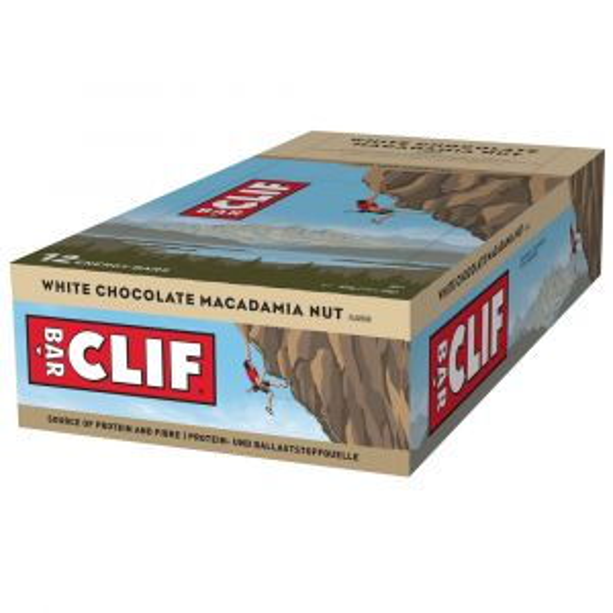 Clif Bar Energieriegel Powerriegel White Choc. Macadamia 12 x 68g - Mindesthaltbarkeit 20/12/2021