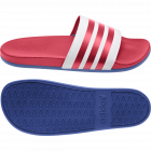 Adilette Comfort White/Red/Royal Blue