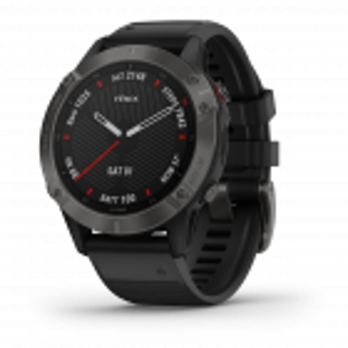 Fenix 6 Saphir GPS-Multisport-Smartwatch schiefergrau mit schwarzem Armband